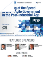 Agile Gov't Virtual Event presentation - Governing at the Speed of Life - Agile Government in the Post-Industrial Age