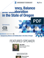 Agile Gov't Virtual Event presentation - Transparency, Balance and Collaboration in the State of Oregon