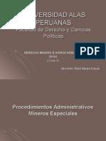 Procedimientos administrativos especiales