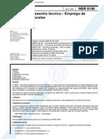 NBR 8196 - 1999 - Desenho Técnico - Emprego de Escalas