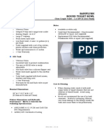 Specifications for Round Toilet Bowl