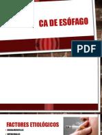 CA de Esófago