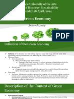 economics of sustainability- green economy