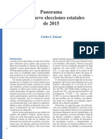 Panorama de Las 9 elecciones estatales de 2015 (Bien Común 238)