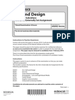 GCE Art and Design Unit 2 as Externally Set Assignment