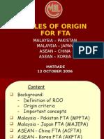 rules of origin for fta