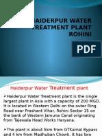 Haiderpur Water Treatment Plant