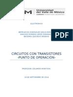 Ppractica 1 Punto de Operacion Transistores
