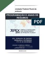 Programação e Anais de Resumos do XIV Jepex UFRPE (2014)