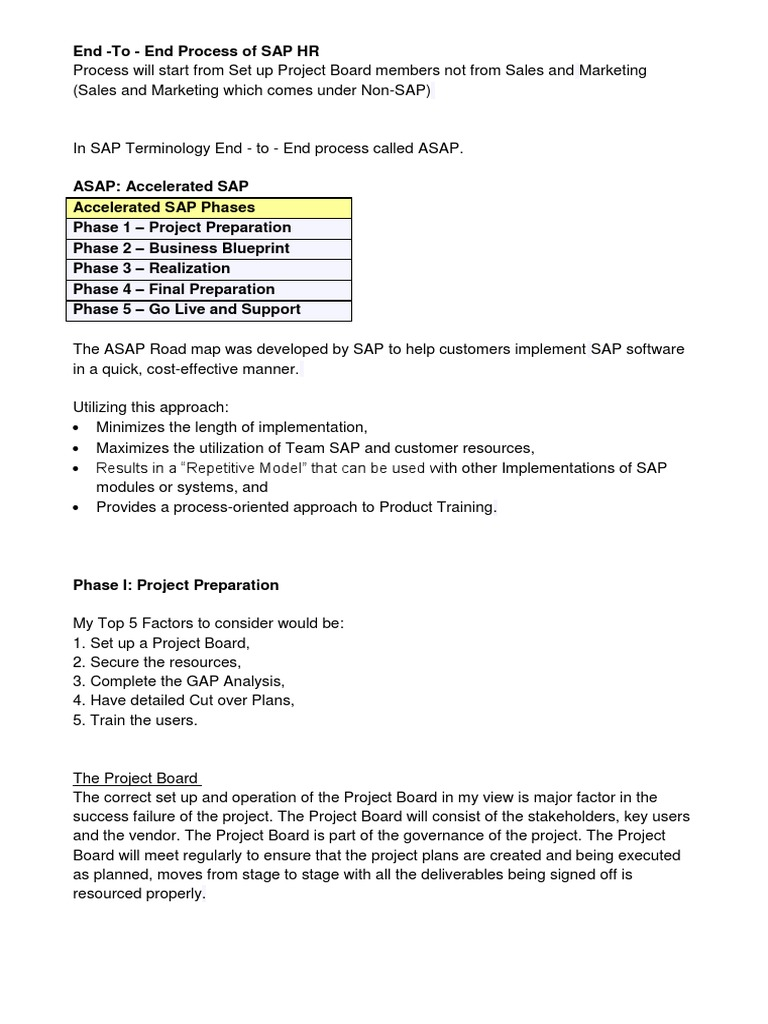 Sap hcm implementation business process technology malvernweather Choice Image