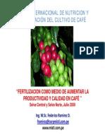 Curso Internacional de Nutricion y Fertilizacion de Cafe