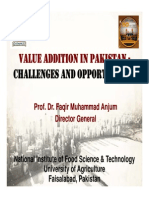 Dr. Anjum-Value Addition in Agricultural Sector of Pak