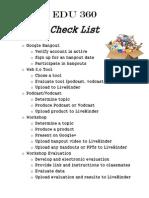 Edu 360 Checklist