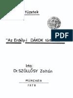 Szőllősy Zoltán - Az Erdélyi Dákok Története 1978.