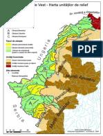Câmpia de Vest - Harta unităților de relief