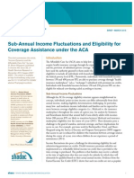 Sub-Annual Income Fluctuations and Eligibility for Coverage Assistance under the ACA