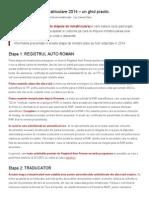 Costuri Si Etape de Inmatriculare 2014 - Un Ghid Practic