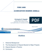 FIDIC AND DISPUTE ADJUDICATION BOARDS