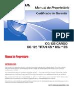 manual do proprietario Titan cg 125/cargo 2003