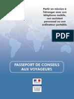 Passeport de Conseils Aux Voyageurs Janvier 2010
