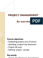 Project Management - an overview