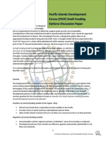 PIDF Funding Principles and Model Discussion Paper