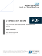 Depression in Adults NICE guidelines
