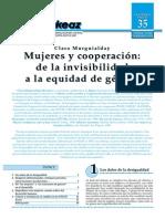 2. Mujeres y Cooperacion. de La Invisibilidad a La Equidad de Genero (20)