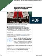 23-03-15 Diputados Federales no ven viable la propuesta de Cárdenas de una nueva Constitución
