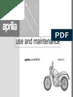 Aprilia Moto 6.5 1995 Owner's Manual English