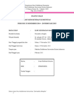 Status Ujian IKM Irvan