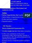 FOREIGN DIRECT INVESTMENT (FDI) & POLITICAL AND COUNTRY RISK ANALYSES