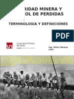 1.0 Terminologia y Definiciones Basicas de Seguridad y Control de Perdidas
