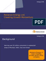 Reliance Energy Ltd. Creating Growth Momentum