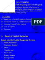 International Capital Budgeting and Cost of Capital