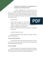 Alcance y Secuencia Del Proceso de Observacion en Funcion Del Desarrollo Integral Del Niño