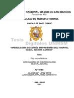 Hiperglicemia de Estres en Hospital Daniel Alcides Carrion