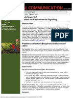 Animal Communication (Web Topic 14.1) Models of Environmental Signaling