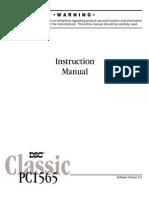 DSC PC-1565 User Manual