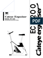 Cateye Ergocizer EC-1200 Operations Manual