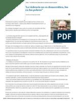 Javier Auyero - _La Violencia No Es Democrática, Los Muertos Los Ponen Los Pobres