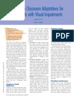 effective-classroom-adaptations cec 2001-visual impairment