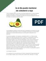 Un Aguacate Al Día Puede Mantener Los Niveles de Colesterol a Raya