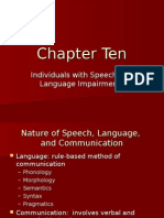 speech and language ppt