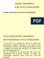 Rectificación de acta de conciliación