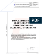 030 Procedimiento Seguimiento Proveedores Material Servicios
