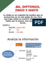 LA SÍLABA, DIPTONGO, TRIPTONGO Y HIATO.pptx