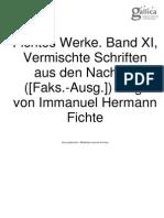 Fichtes Werke Band XI