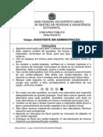 d - Assistente Em Administração 2012