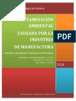 Contaminacion en La Manufactura